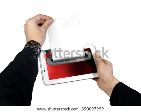 sending email concept - stock photo