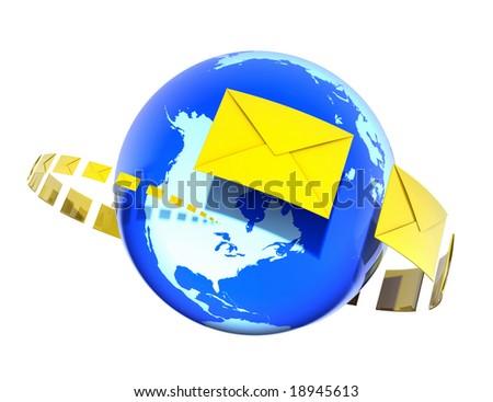 Sending Letters - stock photo