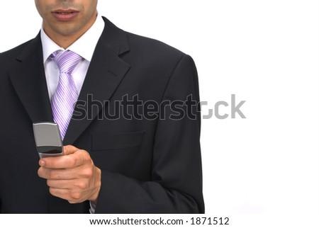 sending sms - stock photo
