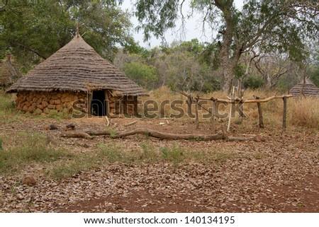 Senegal Ethiolo Hut - stock photo