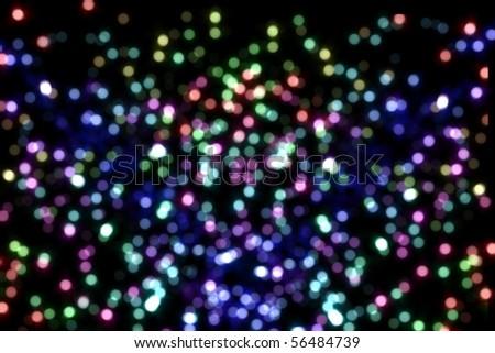 Senility of an image and illuminations at Christmas - stock photo
