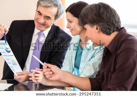 Senior Adult, Finance, Meeting. - stock photo