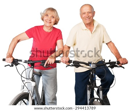 Senior Adult, Healthy Lifestyle, Exercising. - stock photo