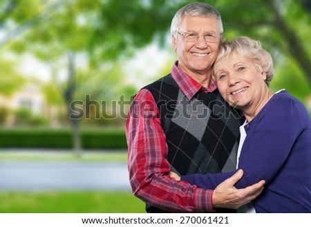 Senior Adult. Playful seniors - stock photo
