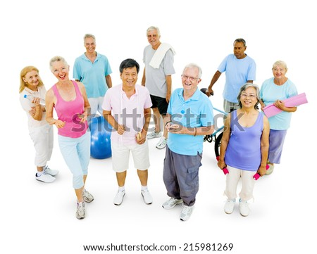 Senior Adult Staying Fit - stock photo