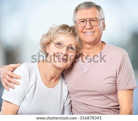 Senior Adults. - stock photo