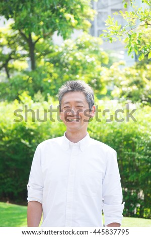 senior asian man
