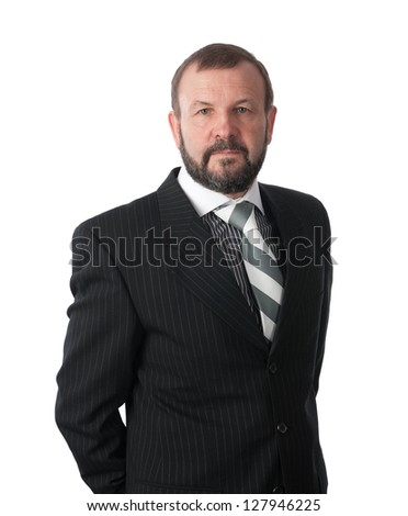 senior business man isolated - stock photo