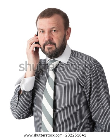 senior businessman - stock photo