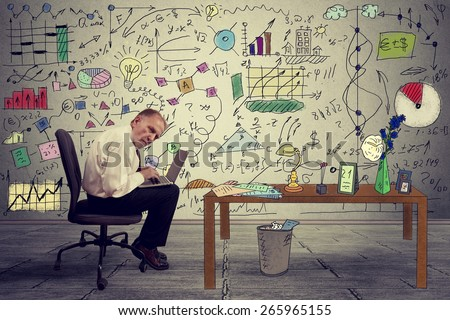 Senior businessman executive working on laptop in office. Corporate investment consultant analyzing company annual financial report balance sheet statement documents graphs. Economy concept  - stock photo