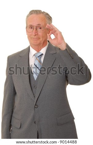 Senior businessman with a rather interesting expression - stock photo