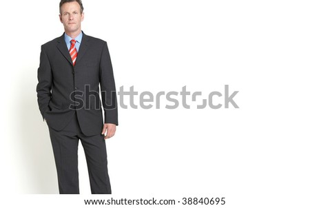 senior businessman with copy space - stock photo