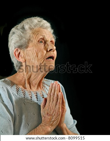 Senior Citizen Praying to the Lord