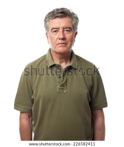senior cool man - stock photo