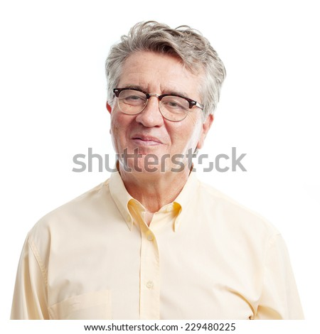 senior cool man confident concept - stock photo