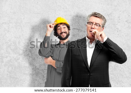 senior cool man with a pure - stock photo