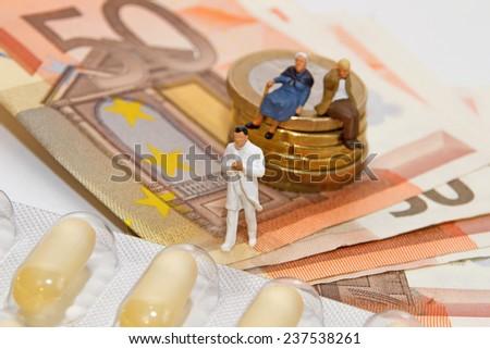 Senior, costs, medicine - stock photo