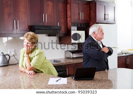senior couple divorce - stock photo