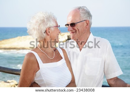 senior couple in love - stock photo
