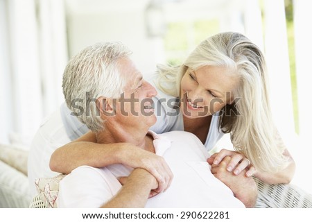 Senior Couple Relaxing Together - stock photo