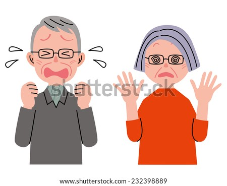 Senior Couple Shock - stock photo