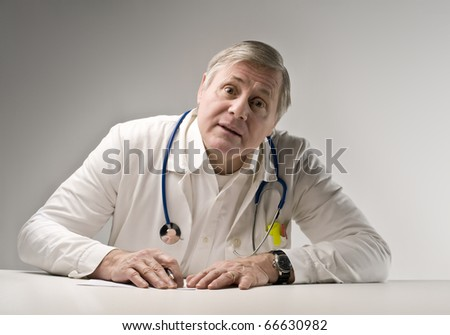 Senior doctor - stock photo