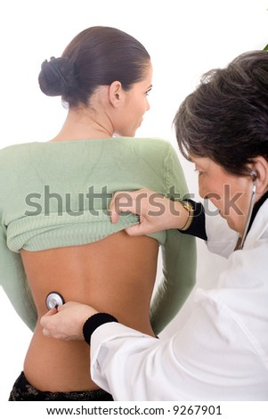 senior doctor and patient at the examination