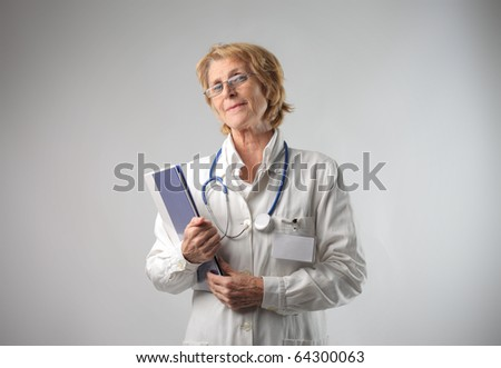 Senior female doctor - stock photo