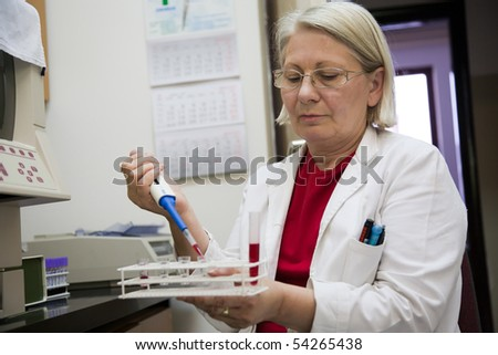 senior female scientist working in the laboratory