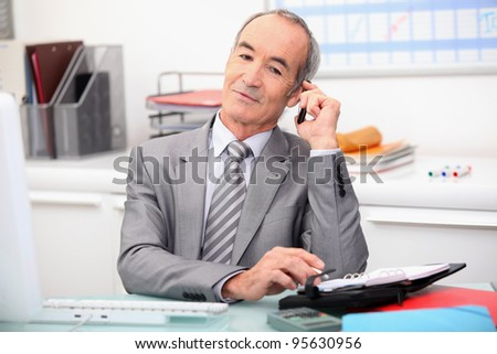 Senior financial counselor - stock photo