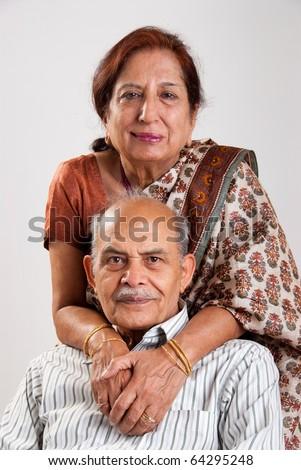Senior Indian couple - stock photo