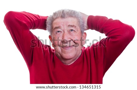 Senior is satisfied - stock photo