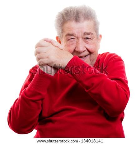 Senior is winning - stock photo