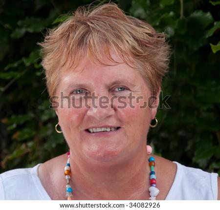 senior lady close up portrait picture - stock photo