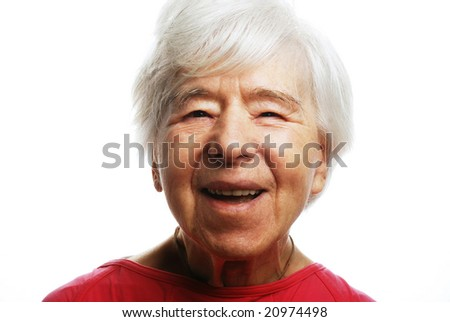 senior lady laughing - stock photo