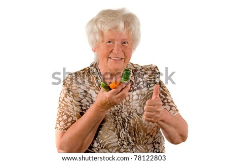 Senior lady with vegetables