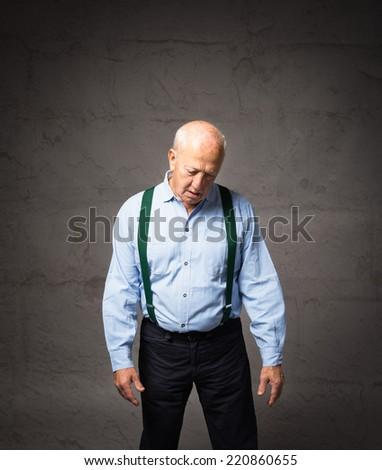 senior male losing in a day dream - stock photo