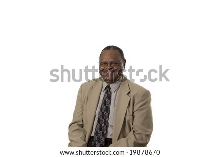 Senior male portrait smiling - stock photo