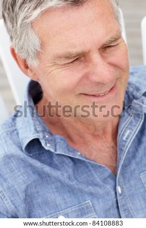 Senior man head and shoulders - stock photo