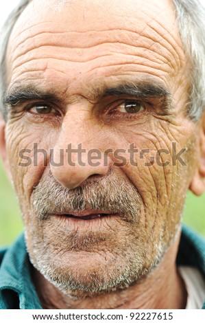 Senior man portrait - stock photo