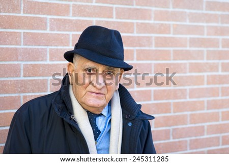 Senior man 80 years, Portrait - stock photo