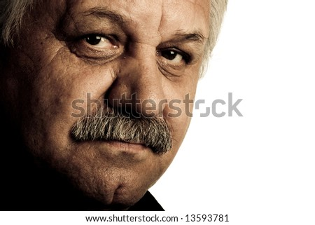 senior men portrait - stock photo