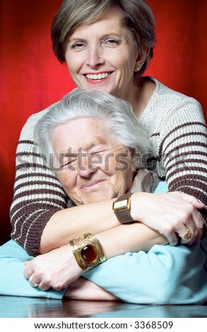 Senior mother with her daughter