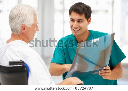 Senior patient with young doctor