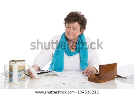 Senior portrait: Sad, poor and depressed old woman: Concept pensioner money problems.