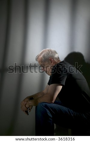 Senior prisoner - stock photo