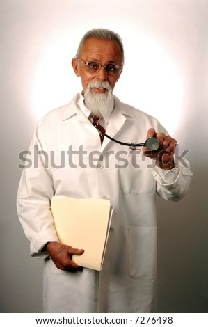 Senior Psychiatric Doctor with stethoscope