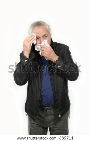 senior with flu