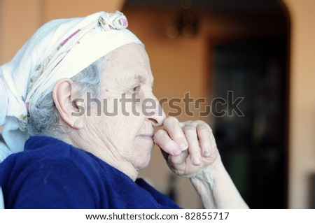 senior woman - stock photo