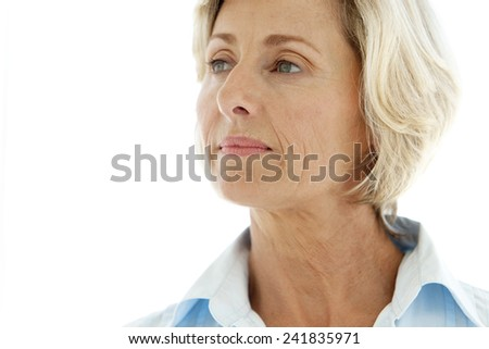 Senior woman. Close up portrait. - stock photo